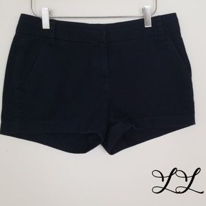 J. Crew Chino Shorts Navy Dark Blue Cotton